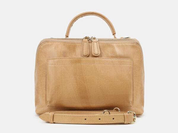 Функциональная бежевая женская сумка ATS-5425