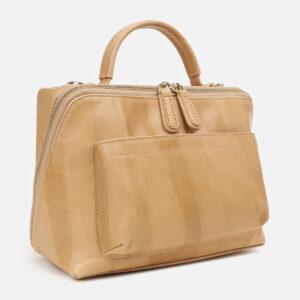 Функциональная бежевая женская сумка ATS-5425 237878