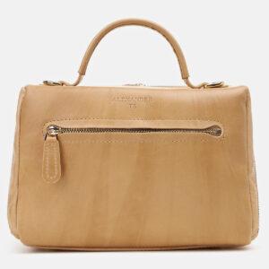 Функциональная бежевая женская сумка ATS-5425 237879