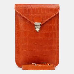 Уникальный оранжевый женский клатч ATS-5440