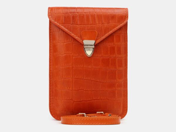 Удобный оранжевый женский клатч ATS-5440