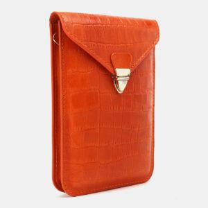 Удобный оранжевый женский клатч ATS-5440 237940