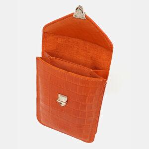 Удобный оранжевый женский клатч ATS-5440 237942