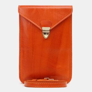 Деловой оранжевый женский клатч ATS-5439