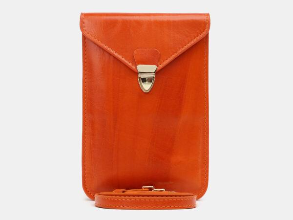 Уникальный оранжевый женский клатч ATS-5439