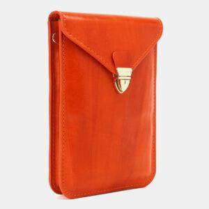 Уникальный оранжевый женский клатч ATS-5439 237945
