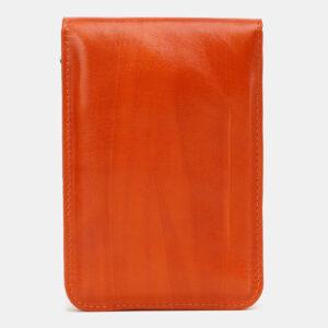 Уникальный оранжевый женский клатч ATS-5439 237946