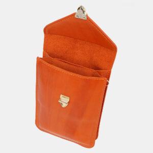 Уникальный оранжевый женский клатч ATS-5439 237947