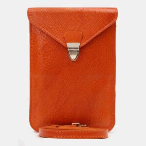 Неповторимый оранжевый женский клатч ATS-5441