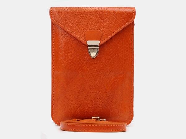 Вместительный оранжевый женский клатч ATS-5441
