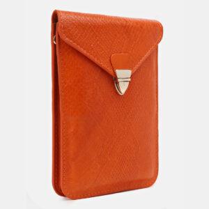 Вместительный оранжевый женский клатч ATS-5441 237935