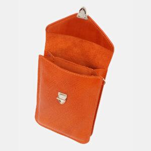 Вместительный оранжевый женский клатч ATS-5441 237937