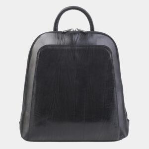 Модный черный рюкзак кожаный ATS-2423