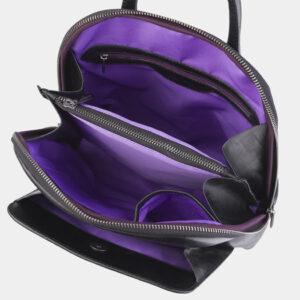 Неповторимый черный рюкзак кожаный ATS-2423 238057