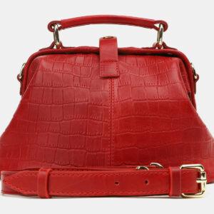 Вместительная красная женская сумка ATS-5447