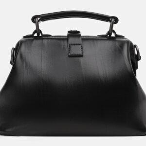 Кожаная черная сумка с росписью ATS-5449 238025