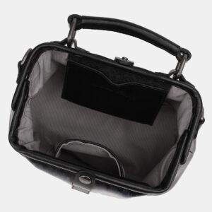 Кожаная черная сумка с росписью ATS-5449 238026