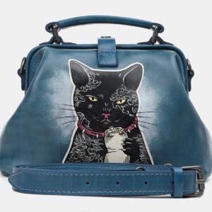 Неповторимая зеленовато-голубая сумка с росписью ATS-5450