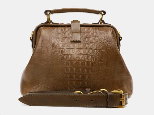 Стильная желтовато-зелёная женская сумка ATS-5451