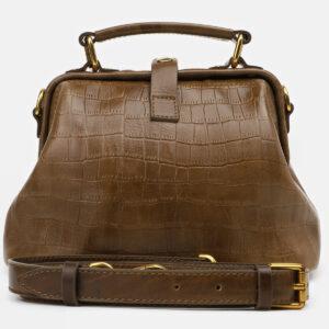 Деловая желтовато-зелёная женская сумка ATS-5464
