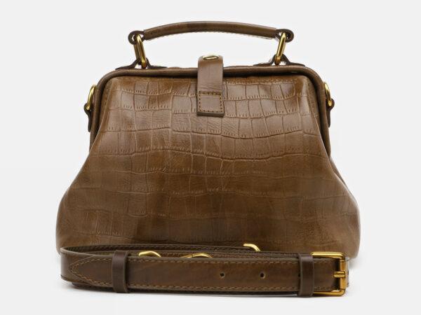 Кожаная желтовато-зелёная женская сумка ATS-5464