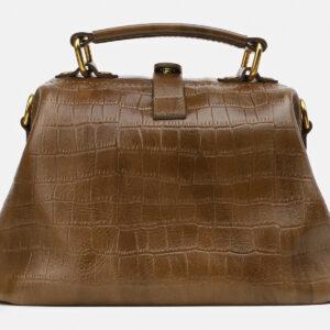 Кожаная желтовато-зелёная женская сумка ATS-5464 238030