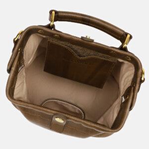 Кожаная желтовато-зелёная женская сумка ATS-5464 238031