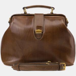 Стильная светло-коричневая женская сумка ATS-5452