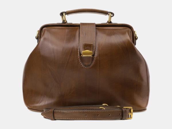 Кожаная светло-коричневая женская сумка ATS-5452