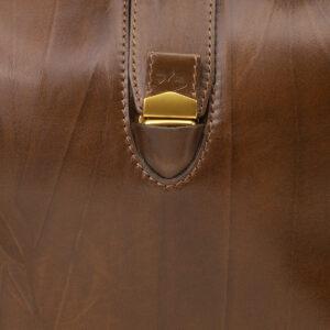Кожаная светло-коричневая женская сумка ATS-5452 238017