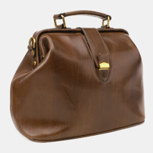 Кожаная светло-коричневая женская сумка ATS-5452 238013