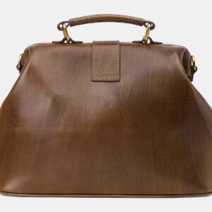 Кожаная светло-коричневая женская сумка ATS-5452 238015