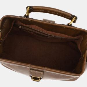 Кожаная светло-коричневая женская сумка ATS-5452 238016