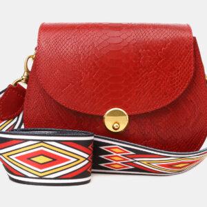 Вместительный красный женский клатч ATS-5454