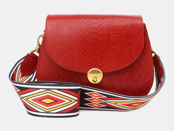 Кожаный красный женский клатч ATS-5454