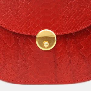 Кожаный красный женский клатч ATS-5454 238006