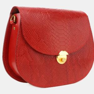 Кожаный красный женский клатч ATS-5454 238001