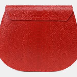 Кожаный красный женский клатч ATS-5454 238003