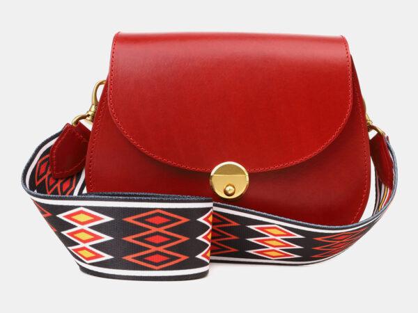 Удобный красный женский клатч ATS-5455