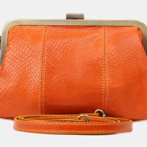 Стильный оранжевый женский клатч ATS-5461