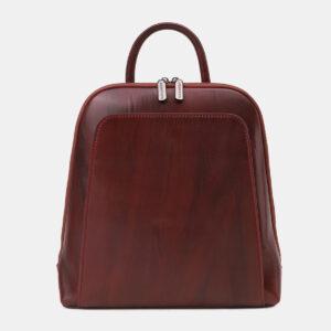 Солидный бордовый рюкзак кожаный ATS-5460