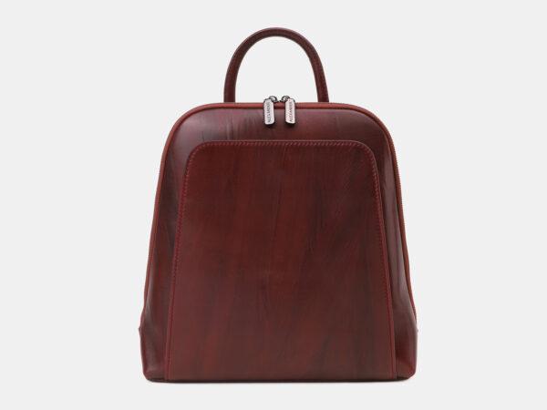Деловой бордовый рюкзак кожаный ATS-5460