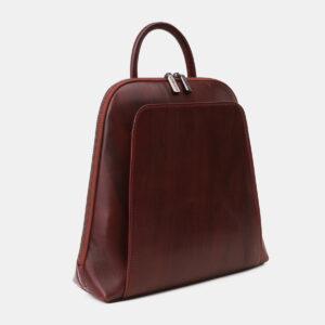 Деловой бордовый рюкзак кожаный ATS-5460 237965