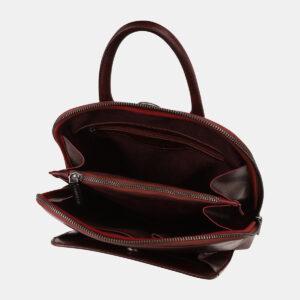 Деловой бордовый рюкзак кожаный ATS-5460 237967