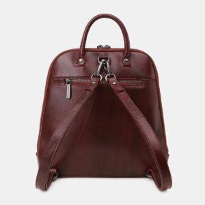 Деловой бордовый рюкзак кожаный ATS-5460 237966