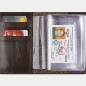 Солидная коричневая обложка для паспорта ATS-2210 238092