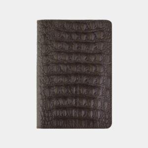 Кожаная коричневая обложка для паспорта ATS-2210