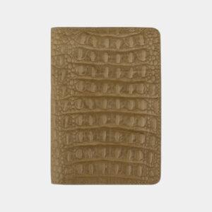 Модная бежевая обложка для паспорта ATS-2219