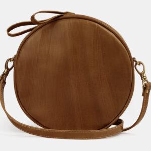 Кожаная светло-коричневая женская сумка ATS-5507