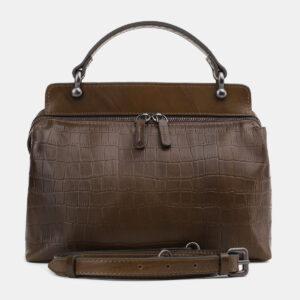 Стильная желтовато-зелёная женская сумка ATS-5493